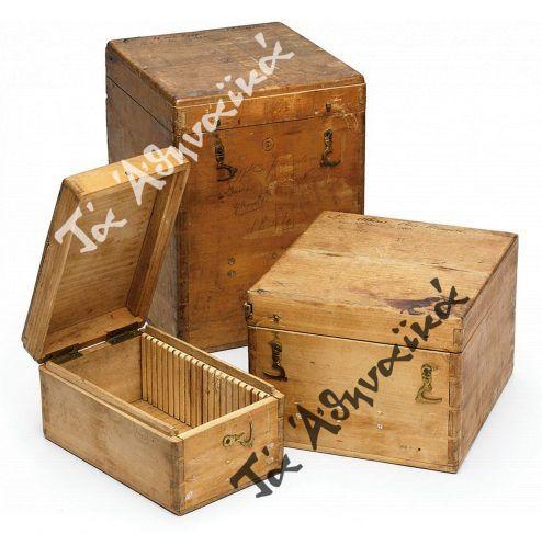 Κουτιά δαγεροτυπίας που χρησιμοποιούσε ο Ζοζέφ ντε Πρανζέ