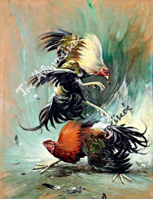 «Κοκορομαχία», Saiman Dullah.